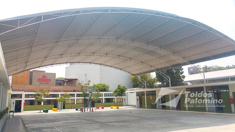 Toldos carpas y estructuras palomino per for Techos planos modernos